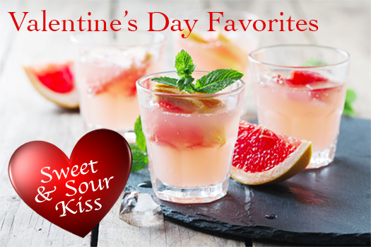 Favorite Valentine's Day Drink Recipes - Sweet and Sour Kiss